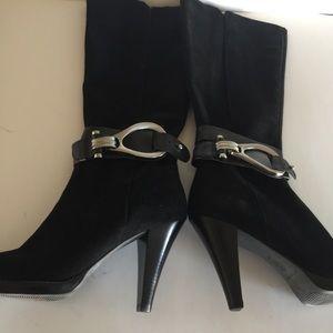 Antonio Melani Black Knee-High Boots Size 8.5